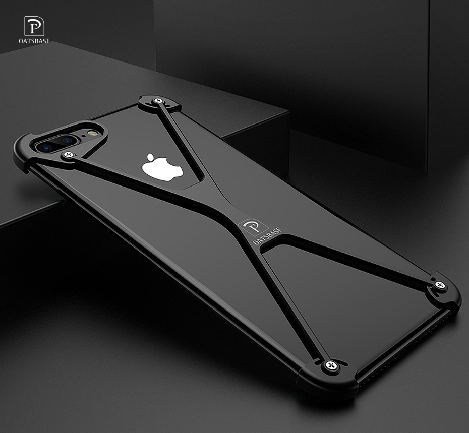Luxury Metal Protection Case For IPhone 7 Personality Lite Personality Shell For IPhone 8 8 Plus Cover Slim Metal Bumper Cover
