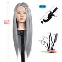 Профессиональная тренировка головы с длинными густыми волосами Парикмахерская практика манекен куклы для укладки волос манекен для прода...