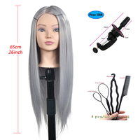 Профессиональная учебная головка с длинными густыми волосами Парикмахерская практика манекен куклы для укладки волос манекен тете для про...