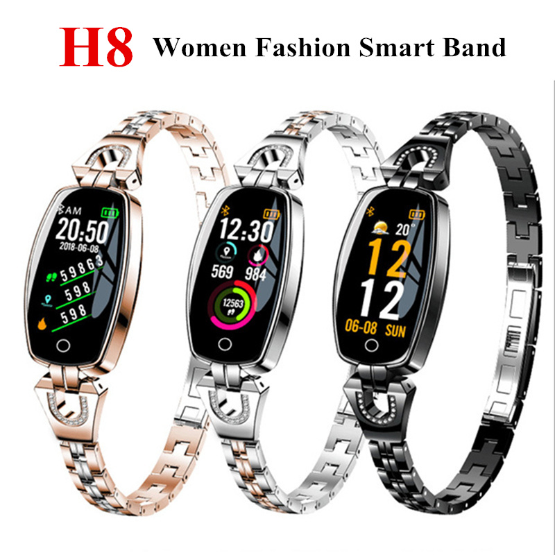 H8 Frauen smart Band fitness armband Herz Rate Smart Armband Blutdruck Uhr Fitness Tracker Smart Uhr smartband uhr