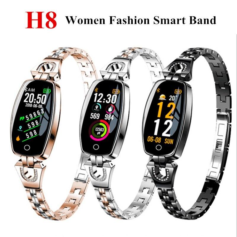 H8 mujeres banda inteligente pulsera corazón pulsera inteligente presión reloj fitness Tracker reloj inteligente smartband reloj