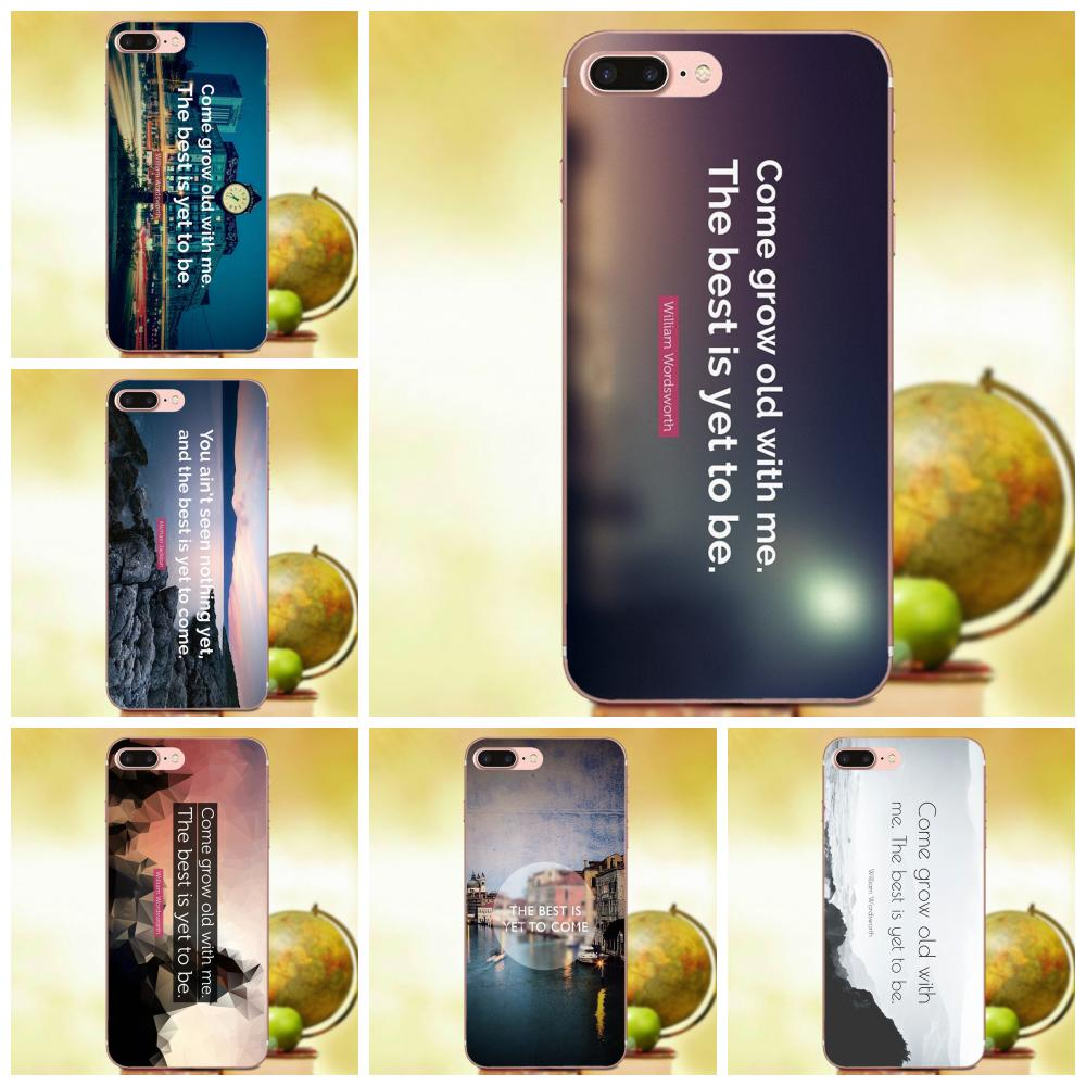 Soft TPU Art Online Cover Case The Best Has Yet To Come Life Quote For Samsung Galaxy A3 A5 A7 J1 J2 J3 J5 J7 2015 2016 2017 image