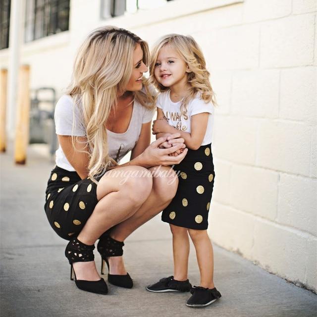nuovo stile 39130 7f413 US $8.54 5% di SCONTO|Madre e Figlia Vestiti Abiti Mamma Mamma e Figlia  Vestito due Pezzi Set Sguardo Famiglia Ragazze Bambino Bambini  Abbigliamento ...