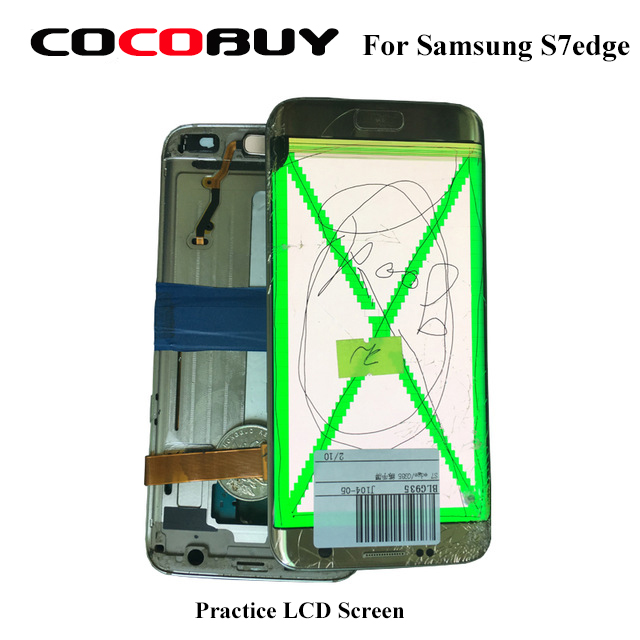 Practice LCD Screen Assmebly For Samsung S7edge For Frame And Glass Separating Practice Touch Works Fine And Image With Defects in Power Tool Sets from Tools