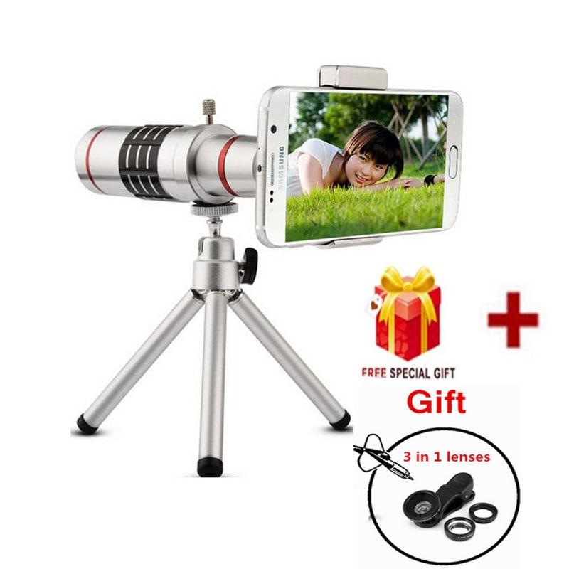 2016 Universal telephoto 18x zoom camera phone telescope fisheye lens for iPhone 7 huawei p9 lite