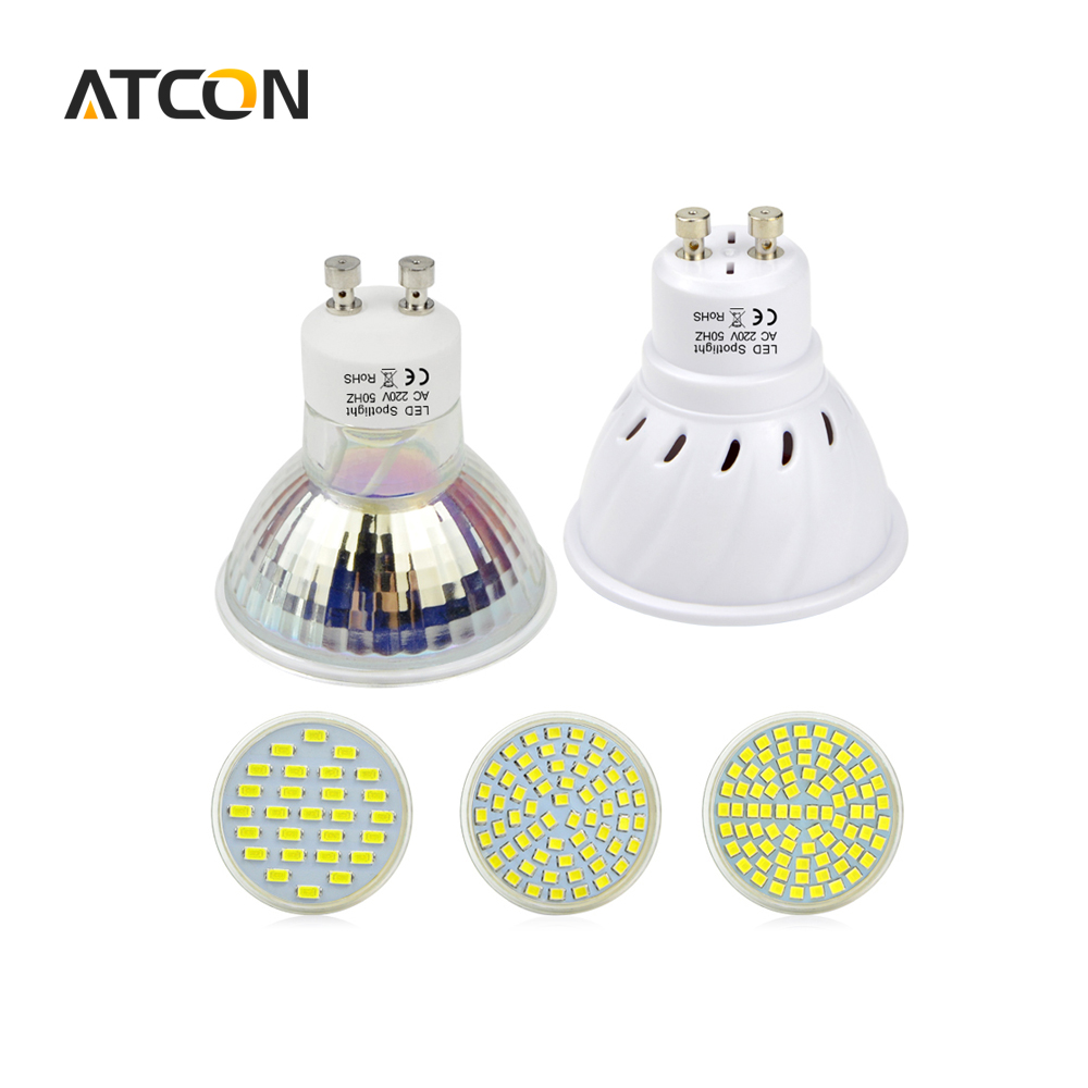 1 Stks Hittebestendige Glas/Plastic Body 6 W 7 W 8 W GU10 LED lamp ...