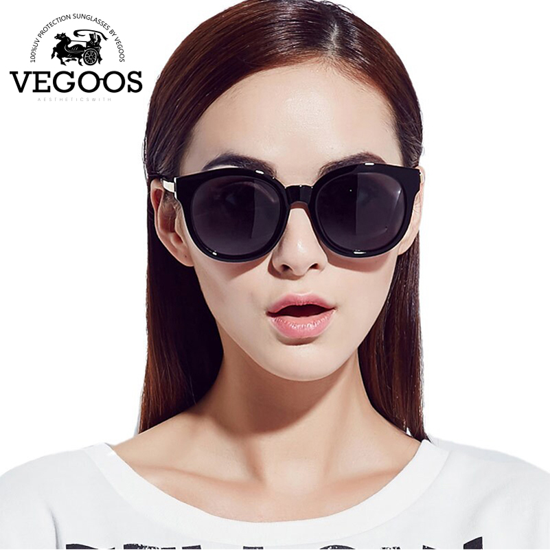 VEGOOS Polarized Women Round Fashion Sunglasses PC Retro Woman Polaroid Driving Sun <font><b>Glasses</b></font> Eyewear New Eyewear Size <font><b>S</b></font> #9068S