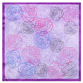 2016 Silk 60cm*60cm Spring Hand Drawn Sketch Rose Scarves Little Lady