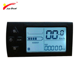 JS LCD Display for Electric Bicycle Waterproof Original Connector Manual Control Panel Mount on the Bike Handlebar 36V Cycling
