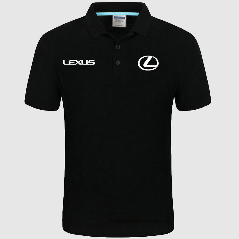 High quality logo crocodil Lexus logo   Polo   classic brand Men   Polo   Shirt Men Casual solid Short Sleeve cotton   polos