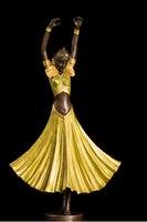 Медь латунь Воск бронза Книги по искусству леди для танцев Скульптура bronzen фигурка памяти Pet Cozinha
