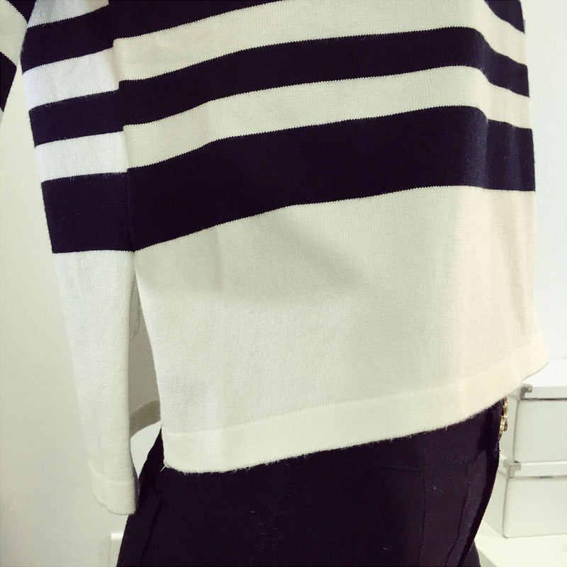 봄과 여름 pullovers 스트 라이프 슬리브 느슨한 대형 야드 박쥐 얇은 스웨터 여성의 새로운 한국어 버전 7553