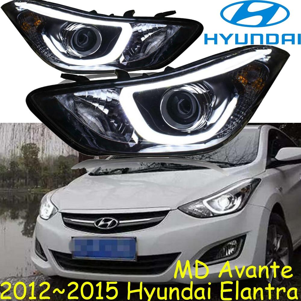 Car Led Drl Kit For Hyundai Elantra 2014 2015 Daytime Accent 2012 Headlight Bulb 20122015 Headlightfree Shipelantra Fog Lightsonatarohens