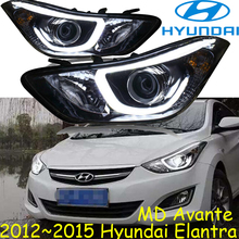 2012 ~ 2015 Elantra reflektor, bezpłatny statek! Elantra światło przeciwmgielne, sonata,rohens,santa fe,Tiburon,terracan,scoupe,lantra,Elantra head light