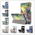 Красочные Печатные Ультра Тонкий PU Стенд Кожаный Чехол Защитный Чехол для Huawei Honor 2 JDN-W09 JDN-AL00 8 дюймов tablet случае