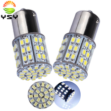 цена на 10X 1157 BAY15D S25 64 SMD 1206 LED Turn Light 64 Leds Cold White Backup Lamps Parking Light Car Signal Light Lamp Bulb 12V DC