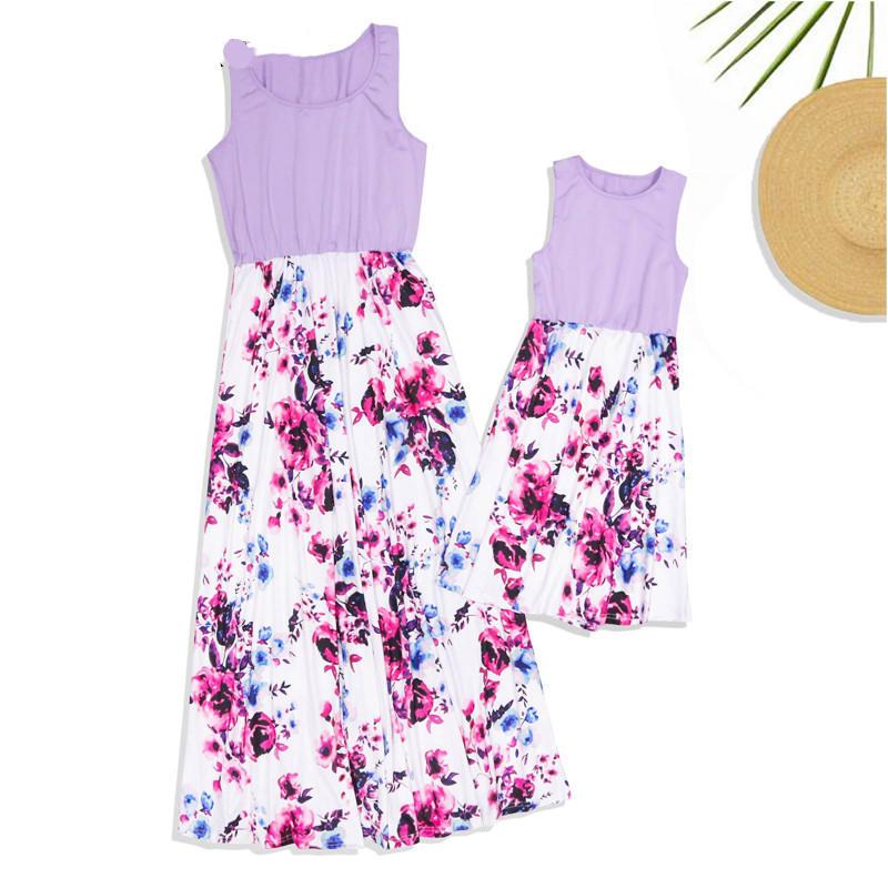 Mother-daughter-dresses-Sleeveless-Floral-Long-Dress-Mother-and-daughter-clothes-Mom-and-daughter-dress-Family (2)