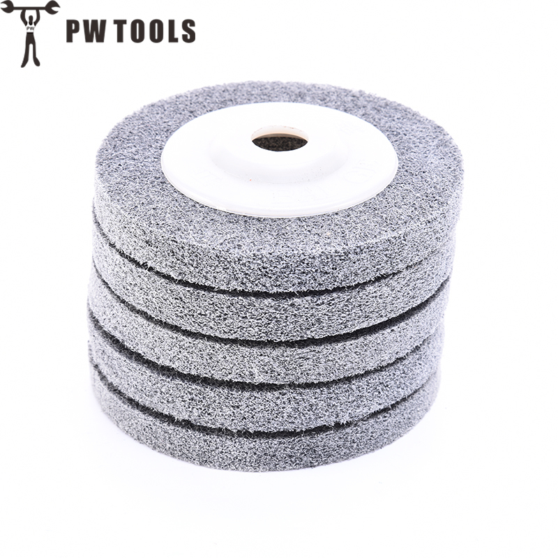 PW TOOLS 1PCS Nylon Fiber Polishing Wheel 16mm aperture and outer diameter 100mm Grinding Machine Polishing Wheel Abrasive Tools fiber polishing buffing wheel grit nylon abrasive 25mm thickness 7p hardness 32mm id