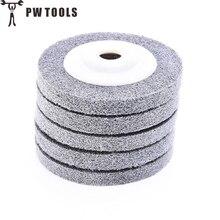 PW TOOLS 1PCS Nylon Fiber Polishing Wheel 16mm aperture and outer diameter 100mm Grinding Machine Polishing Wheel Abrasive Tools
