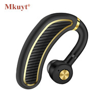 MKUYT Wireless Bluetooth 4 1 Business Headsets Headphone Earphone 300mAh Super Long Standby For IOS And