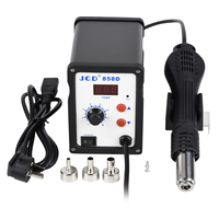 JCD Hot air gun 858D 2 in 1 soldering station 700W 110V 220V BGA Rework SMD SMT welding repair tool Heat gun LED Digital Solder