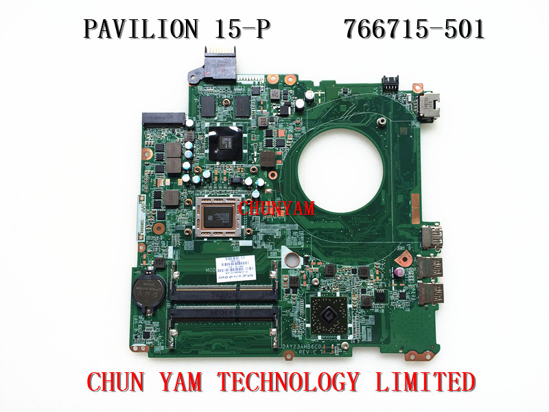 original 766715-501 FOR HP Pavilion 15-P series motherboard DAY23AMB6C0 REV:C A10-5745M mainboard 90Days Warranty 100% tested