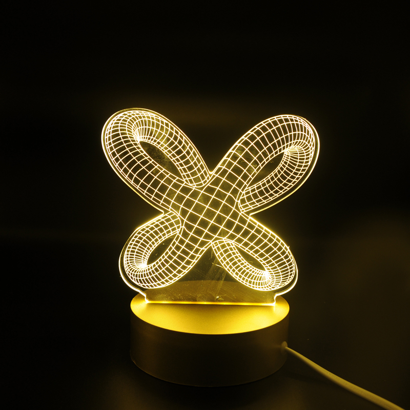 Acrylic Abstract LED Lamp 3D Night Light Sleeping Lighting 5V USB Small led table Lamp Big white bedroom deco 3d table lamp 3d led lamp usb night love heart