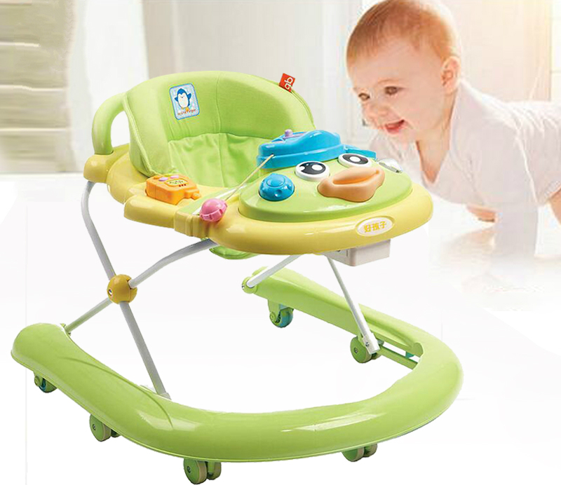 Multifunctional Baby Walker U Type Baby Walking Learning Car Light Weight Baby Toddler Walker Anti Roll Over Folding Walkers 2016 new baby walker car anti roll over multifunctional baby stroller music toys plate baby walk learning car folding walker c01
