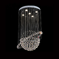 Free shipping LED Crystal Chandeliers Modern lamp lighting small household lights tellurian stainless steel crystal pendant lamp