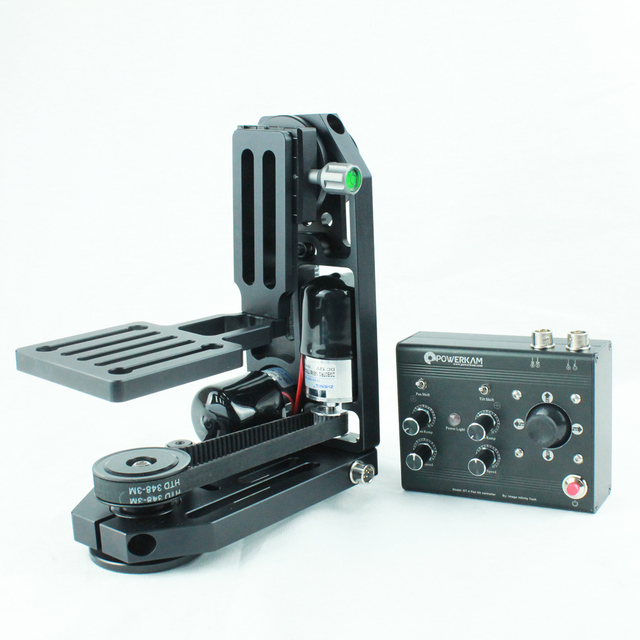 POWERKAM PT-0 & DT4 motorisierten pan tilt kopf mit controller für BMCC, DSLR, GH4, BMD