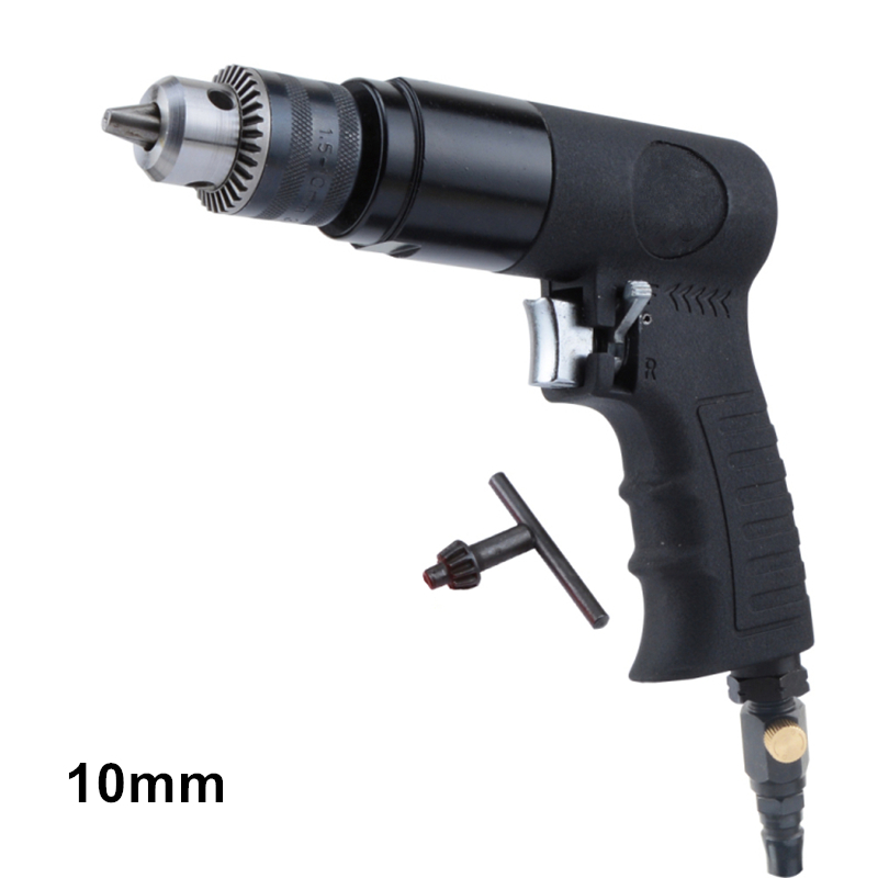 10mm hold capacity air drill pneumatic drilling grinding tool with reverse switch positive and negative function high quality 3 8 10mm reversible pneumatic drill tool air drilling tool