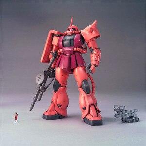 Image 2 - Bandai Gundam MG 1/100 MS 06S Zaku II 2.0โทรศัพท์มือถือชุดประกอบชุดตัวเลขการกระทำของเล่นรุ่น