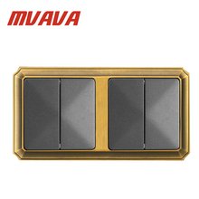 цены MVAVA Luxury Bronzed Frame wall switch,16A,110-250V,Decorative 4 gang Electrical Light Push Button Wall Switch,Factory Price!