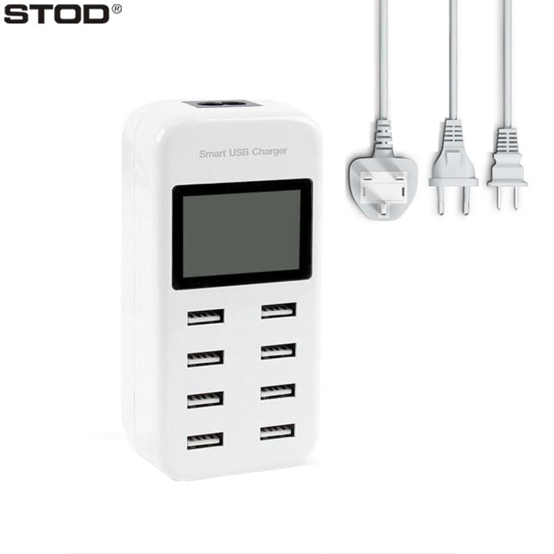 8-portowa ładowarka USB STOD 40 W LCD Show Stacja ładująca w - Części i akcesoria do telefonów komórkowych i smartfonów - Zdjęcie 4