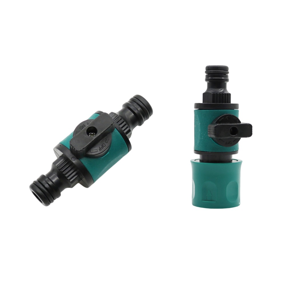 16mm Joint 1/2 Inch To 16mm Quick Connector With Valve Garden Irrigation System Fast Couplings Accessories Garden Supplies 1 Pcs
