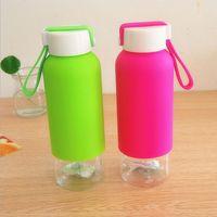 Portable Water Bottle 410ml Plastic Cheap Sport Creative Shatterproof Lemon Soda Space Cup Leak Proof Water