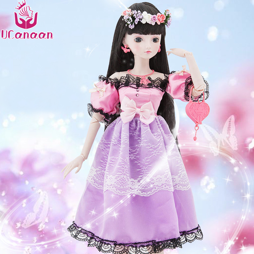 Ucanaan 1/3 Large BJD/SD Doll Lace Princess Jointed Body East Charm Chinese Style With Clothes And Make Up Special Design Toys handsome grey woolen coat belt for bjd 1 3 sd10 sd13 sd17 uncle ssdf sd luts dod dz as doll clothes cmb107