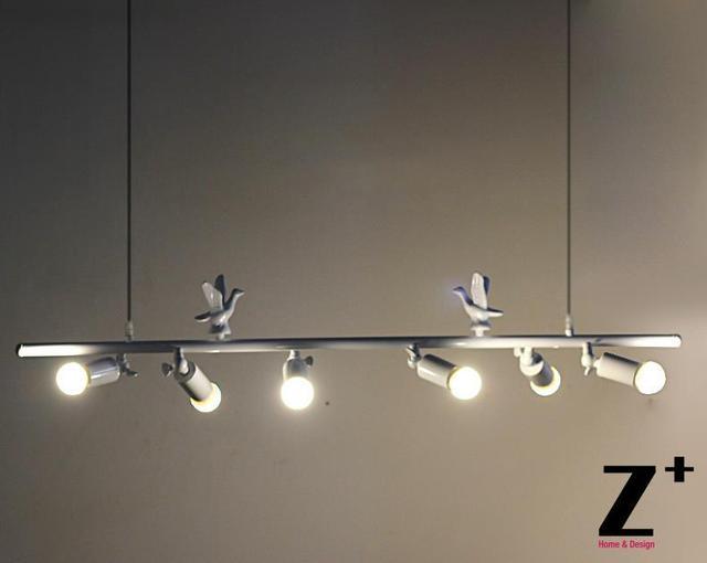 Moderne vogel hanger mode kleding winkel eetkamer creatieve