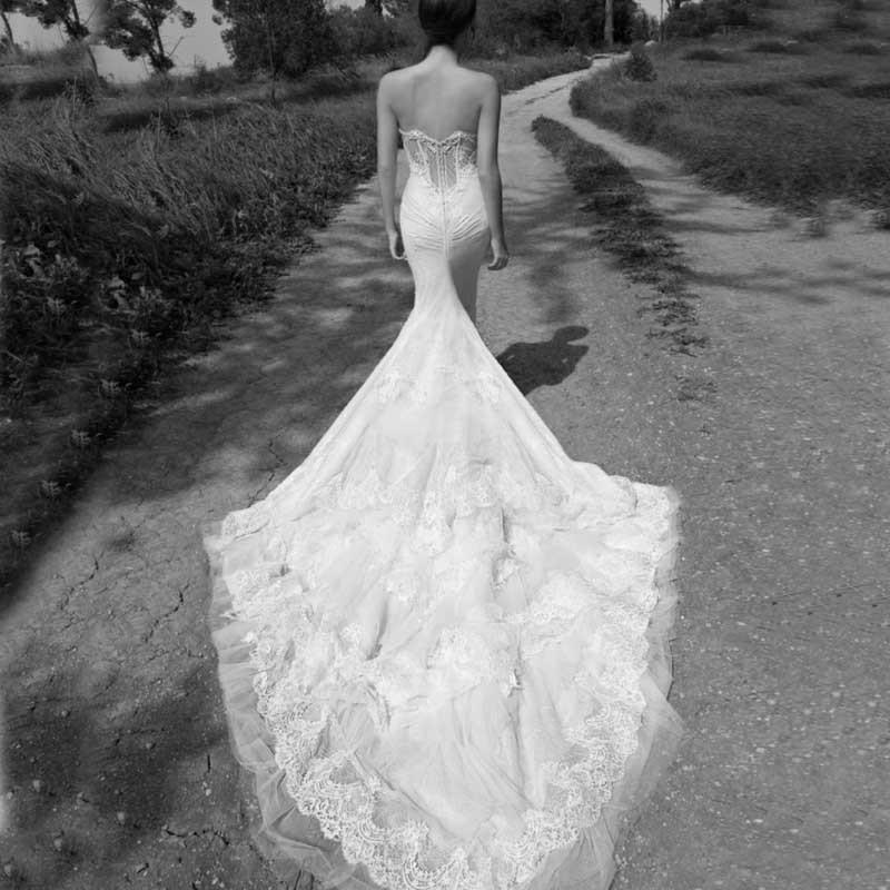 Sweetheart Mermaid Wedding Gown: Real Photo Fancy Inbal Dror Wedding Dress Sweetheart