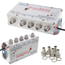 New Arrival 1 Set 4 Way CATV VCR TV Antenna Signal Amplifier 20DB Low Noise Design Booster Splitter 45-860MHz