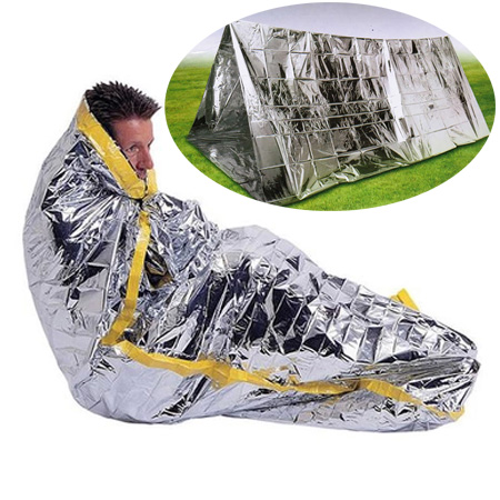 Emergency sleeping bag outdoor survival blanket to survive first aid heat preservation and sun protection