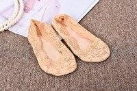 Feishiliayu Мода Лодка Носки распродажа летние кружевные носки тапочки Для женщин невидимые мелкой рот носок тапочки узор S001