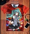 Nueva vocaloid Hatsune Miku Camiseta Japón Anime cosplay camiseta de Verano Poliester de La Manera Caliente Camisetas