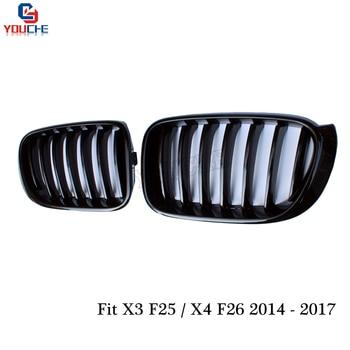X4 F26 لمعان أسود الجبهة الكلى الشوايات استبدال مصبغة لسيارات BMW X4 F26 SUV X3 F25 تصفيف الشعر 2014-2017 28i 35i