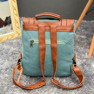 Image 4 - Luxy księżyc rocznika kobiety Canvas plecaki dla nastolatek dziewczyny szkolne torby duże wysokiej jakości Patchwork plecak Escolares XA29H
