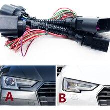 Светодиодные hid-лампы головного света соединительный провод жгут матричный адаптер для фары для Audi A4/B9 линия преобразования фар