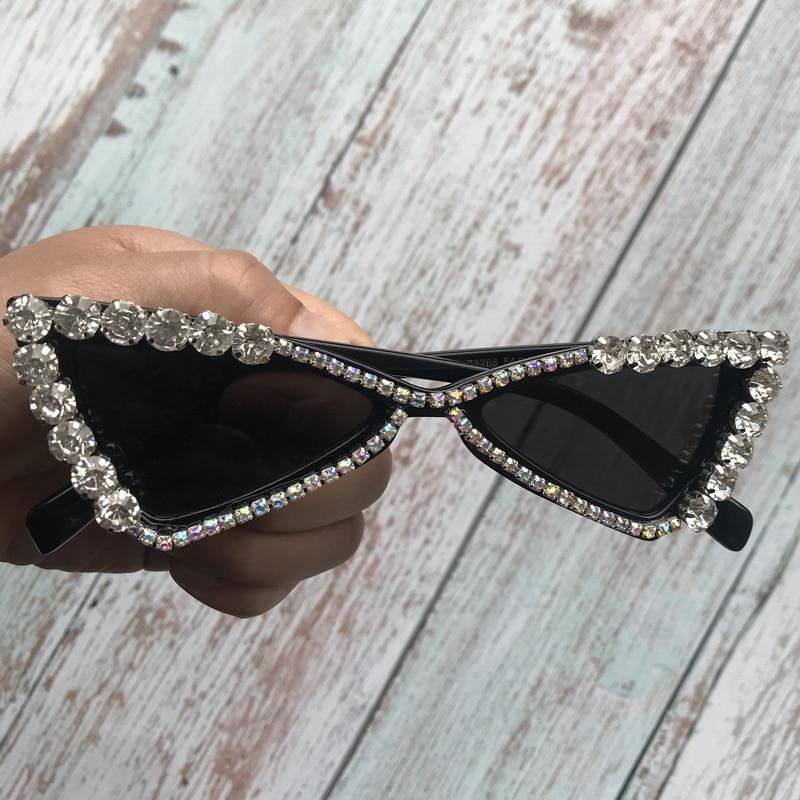 2019 Pearl Shades Women Sunglasses Cat Eye Trendy Eyewear Round Shapes Female Eyeglasses Cute Heart Design Sun Glasses UV400