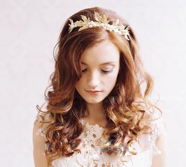 a8d989235 Bouquet Simulated-pearl Rhinestone Bridal Hairband Headband Flower wedding  head pieces hair accessories wedding jewelry for hair
