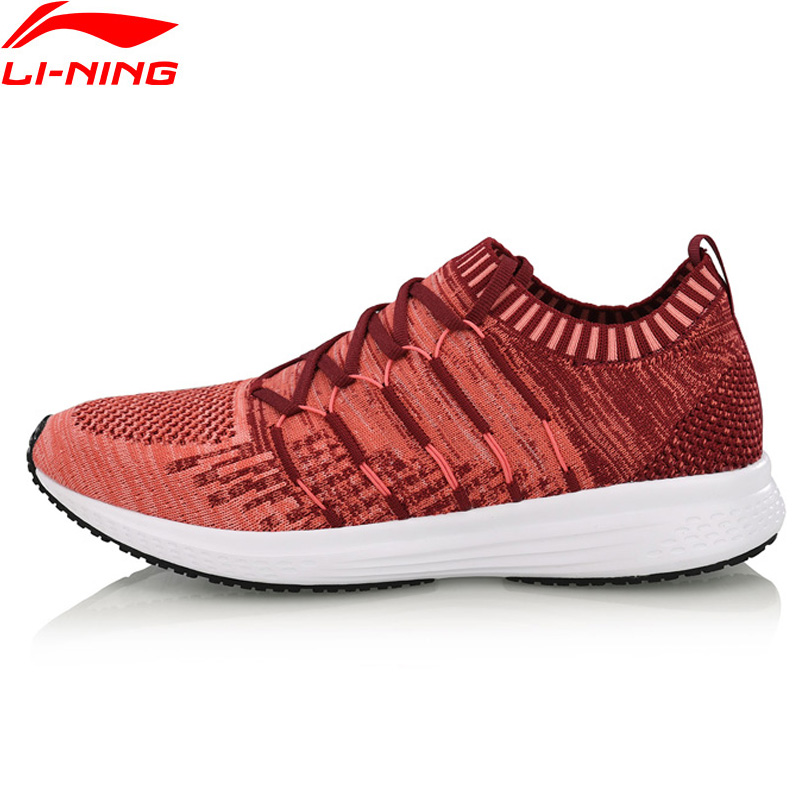 Li-Ning Women SPEED STAR Cushion Running Shoes Mono Yarn Fitness LiNing Breathable Sport Shoes Light Sneakers ARHN128 XYP722