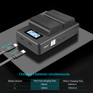 Image 4 - Palo LCD Dual USB Charger LP E6 LP E6 LPE6 Camera Battery Charger for Canon 5D Mark II III 7D 60D EOS 6D 70D 80D camera